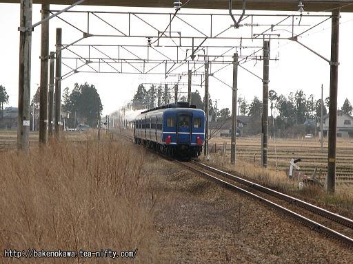 中浦駅を通過するD51形蒸気機関車牽引のイベント列車その2