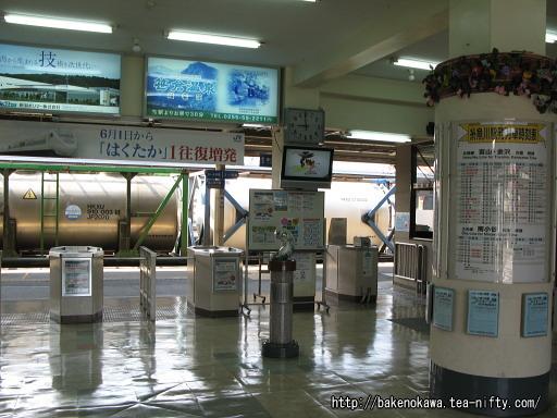 糸魚川駅旧駅舎内部その1