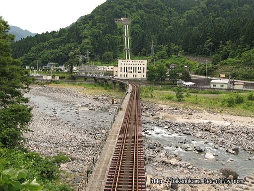 トンネル直上から見た鉄橋