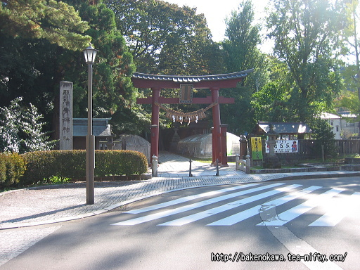 青海神社入口と社殿その1