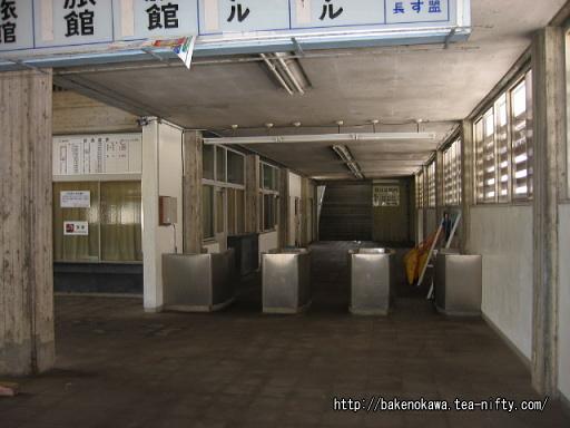 湯檜曽駅の旧駅舎内部その2