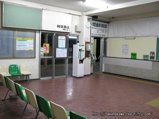 岩室駅駅舎内部その1