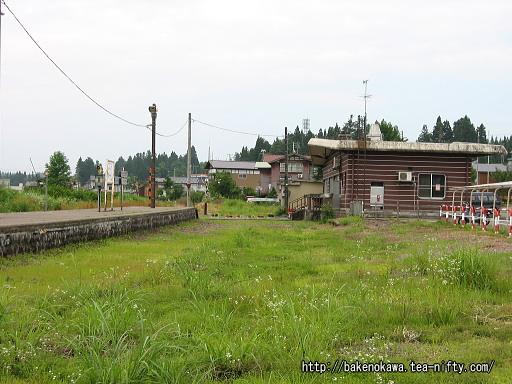 構内の線路撤去跡