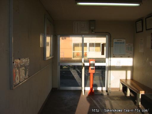 前川駅駅舎内部