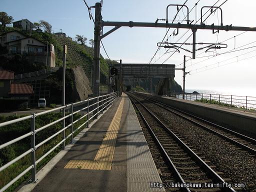 青海川駅の上りホームその2