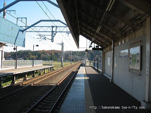 くびき駅の1番ホームその3