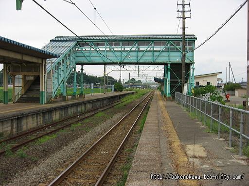安田駅の下りホームその2