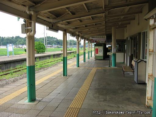 安田駅の下りホームその3