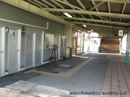 羽生田駅の1番ホームその1