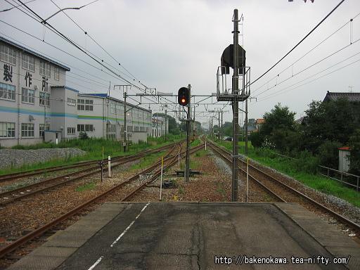羽生田駅の島式ホームその3