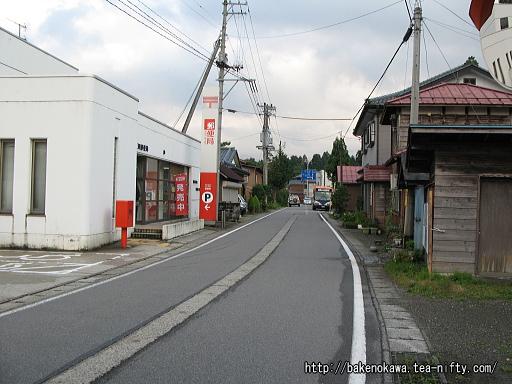 旧三川村の中心街