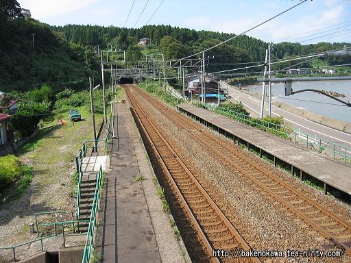 俯瞰で見た有間川駅構内その2