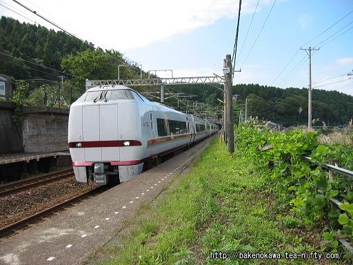 有間川駅を通過する特急「はくたか」その3