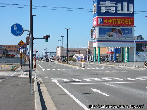 西新発田駅前通りその一