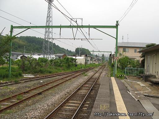 出雲崎駅の1番ホームその2
