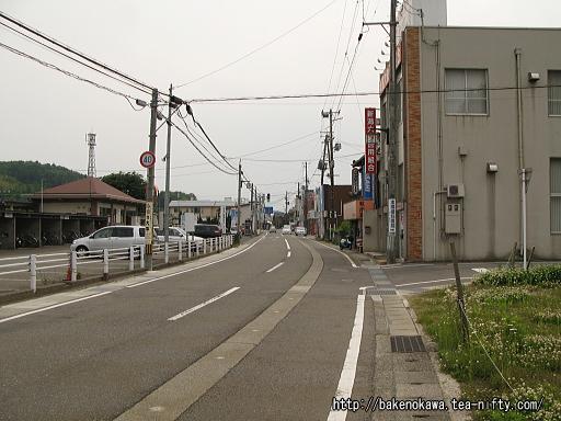 出雲崎駅前通りその2