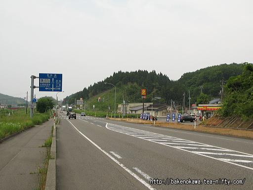 出雲崎駅付近の国道116号線