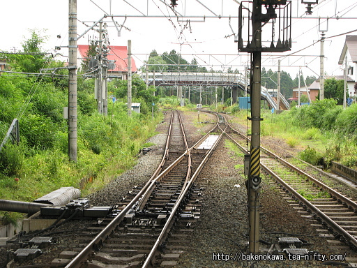 直江津方の線路配置