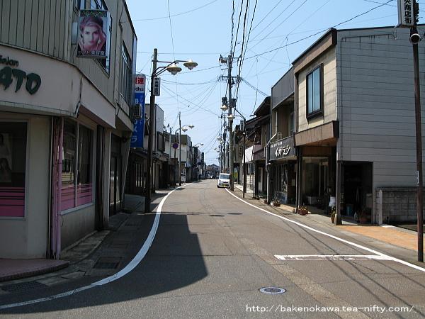 旧能生町のメインストリート