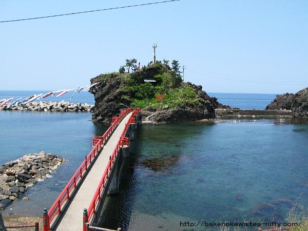 旧能生町海岸の弁天岩その一