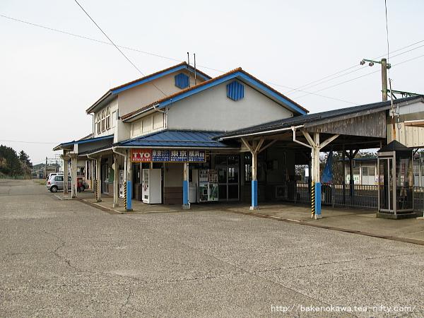 柿崎駅旧駅舎の様子