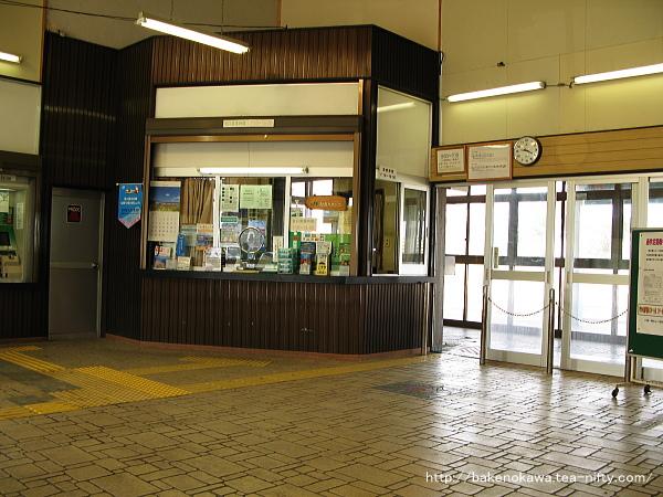 柿崎駅の旧駅舎内部その1