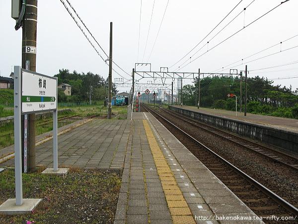 柿崎駅の1番ホームその3