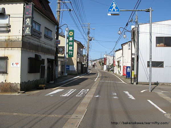 旧柿崎町の中心街