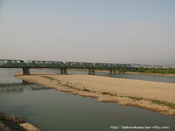 来迎寺-前川間の信濃川鉄橋