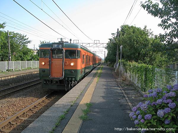 田上駅に到着した115系電車その2
