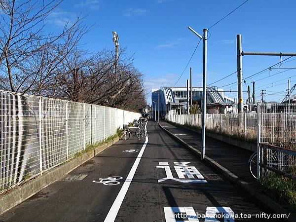 駅舎改築後の内野駅北口