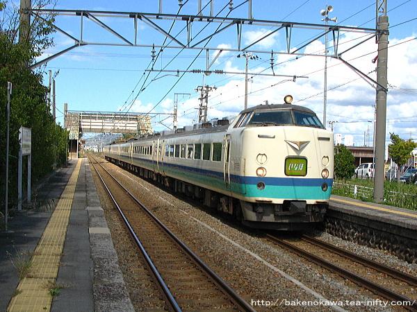 平林駅を通過する485系特急「いなほ」その二
