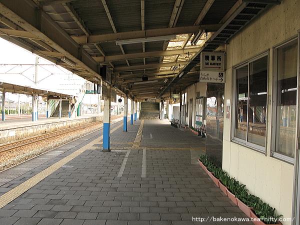 中条駅の1番ホームその一