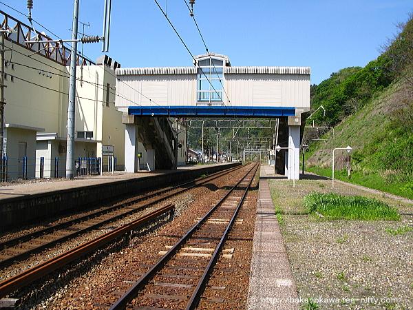桑川駅の上りホームその一