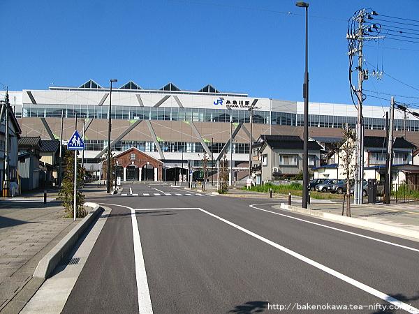 糸魚川駅アルプス口の様子