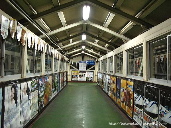 糸魚川駅の昔の跨線橋内の様子