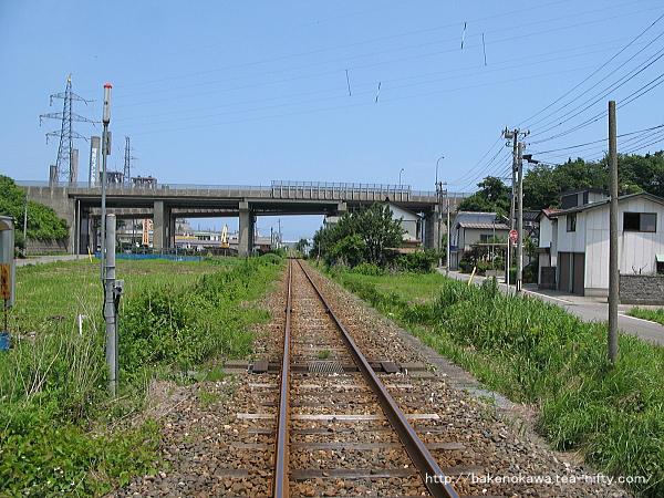 大糸線糸魚川-姫川間の踏切