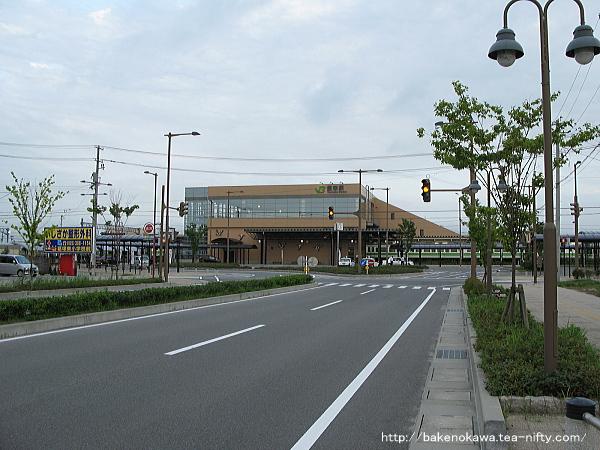 豊栄駅北口の様子