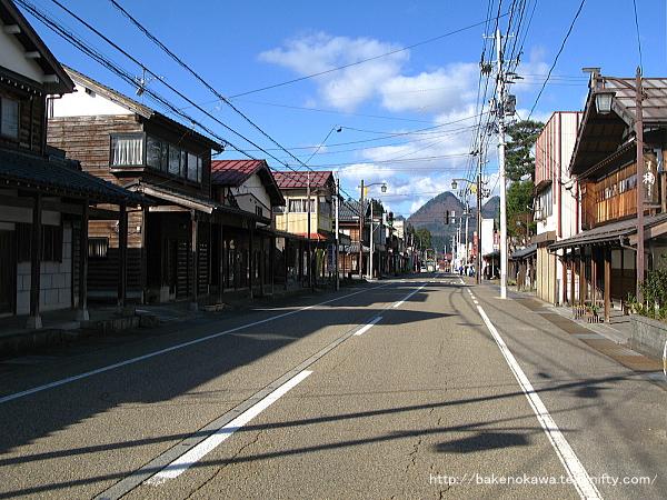旧津川町中心街