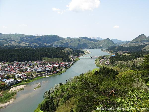 麒麟山山頂から見た阿賀野川