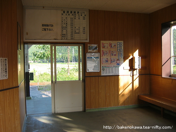越後広瀬駅駅舎内部