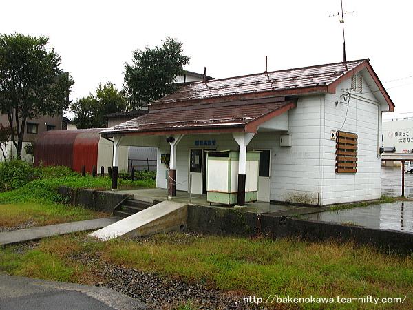 構内側から見た越後広瀬駅駅舎その1