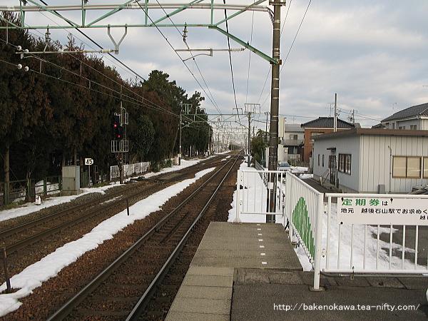 越後石山駅の上りホームその2