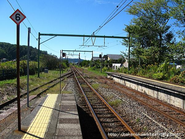 小島谷駅の1番ホームその2