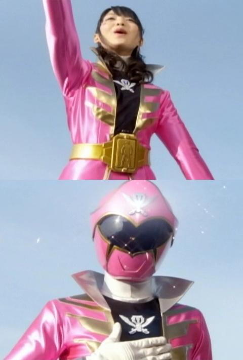 ゴーカイピンクのマスクオフ