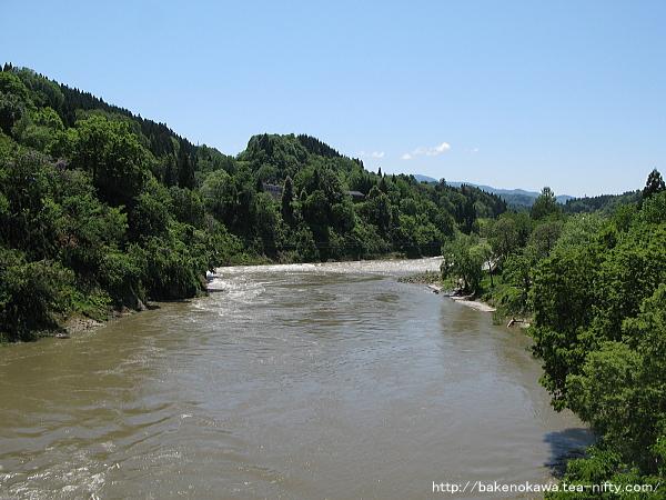 橋上から見た信濃川