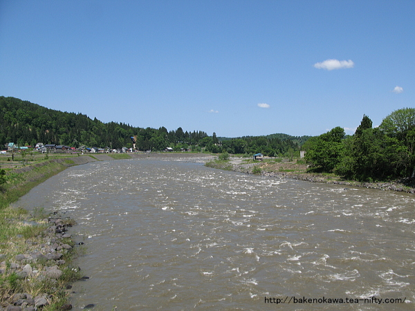 国道405号線の信濃川大橋から見た信濃川