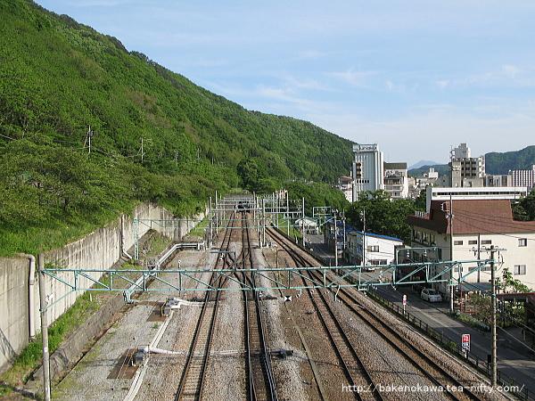 陸橋上から見た高崎方