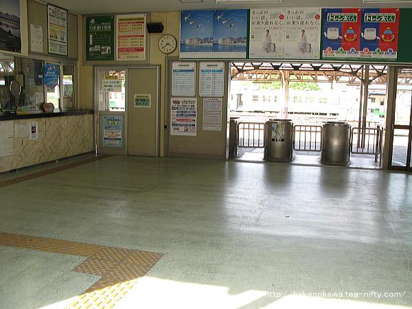 小出駅旧駅舎内部その1