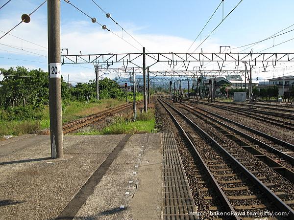 黒井駅の島式ホームその5